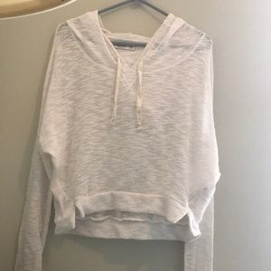 Hollister M/L cropped sheer hoodie new w/o tags